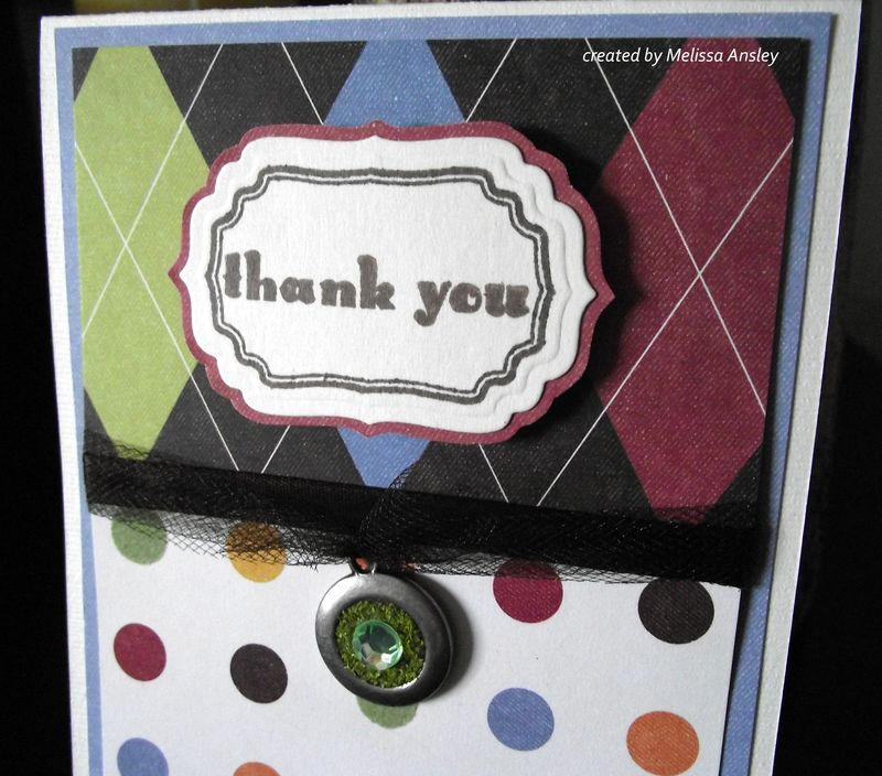 Thank you rt side close up thank you card