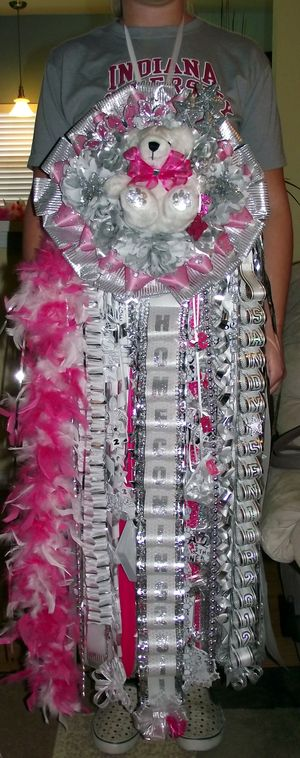 Senior Quad Homecoming Mum Pink