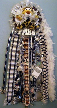 Super Size Single Homecoming Mum Flower Mound Jaguar