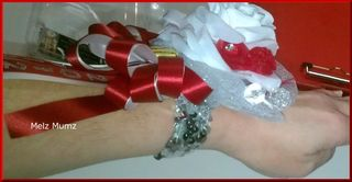 Melz Mumz Wrist Corsage Softball Banquet Side View
