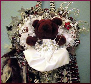 Triple Junior Homecoming Mum 2012 Zebra Top Maroon