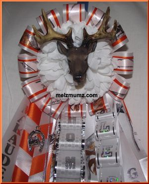 Mega Homecoming Garter Deer Head Marcus High School