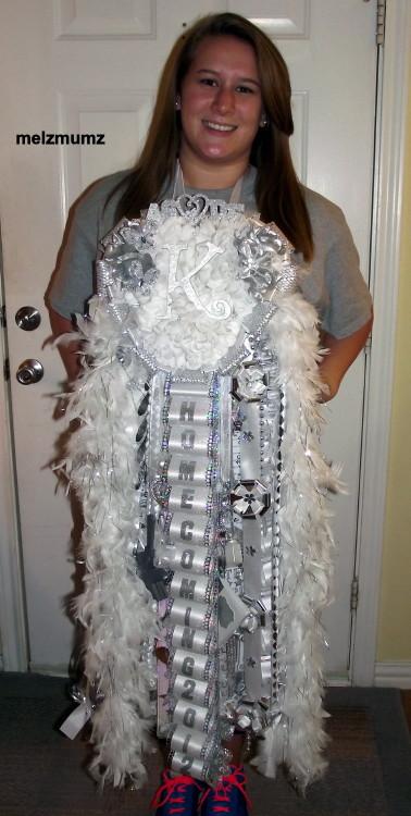 Senior Triple Mega Homecoming Mum Kennedale High School wear