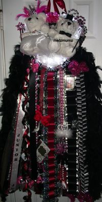 Melz Mumz Junior Triple mega Homecoming Mum red and black Colleyville High School