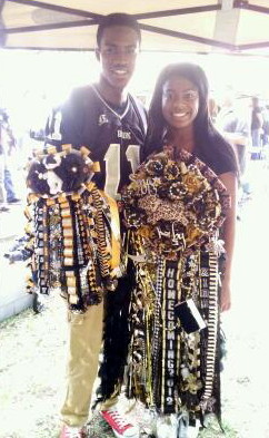 Kirby and Chase   Quad Homecoming Mum  Double Garter