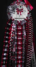 Deluxe Single Homecoming Mum Marcus Dance Zebra Accent mid